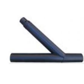 Trójnik segmentowy kątowy redukcyjny fi 125/125/63mm kąt 67° PN 10