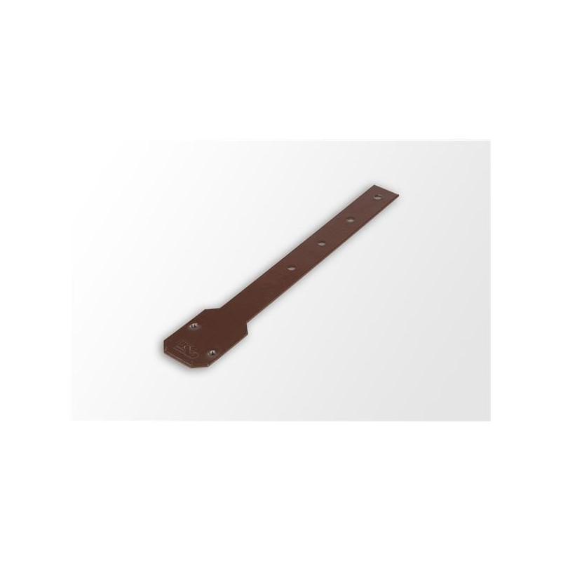Wspornik stalowy uchwytu PVC prosty ocynkowany DN 125x215