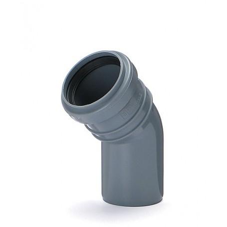 Kanalizačné koleno DN 50 uhol 45 stupňov (interné)