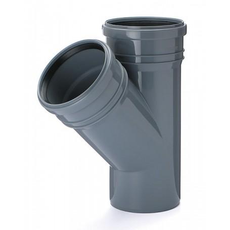 Trójnik kanalizacyjny DN 75/75 kąt 45 stopni (wewnętrzny)