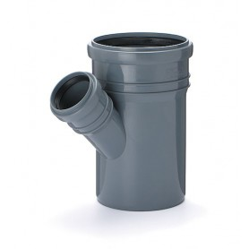 Trójnik kanalizacyjny fi 110/50 kąt 45 stopni