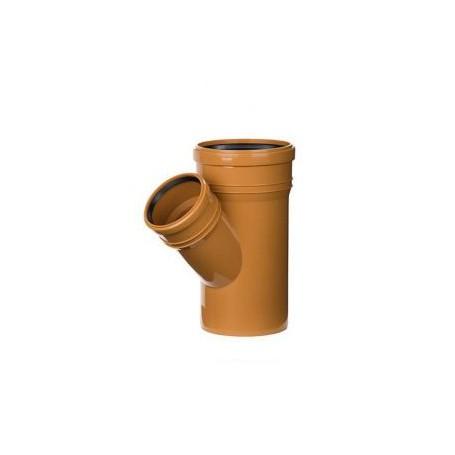 Trójnik kanalizacyjny DN 200/110 kąt 45 stopni (zewnętrzny)
