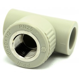 """Trójnik z gwintem wewnętrznym PP-R fi 20x1/2""""mm kąt 90 stopni"""
