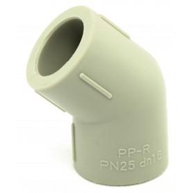 Kolano zgrzewane PP-R fi 16mm kąt 45 stopni