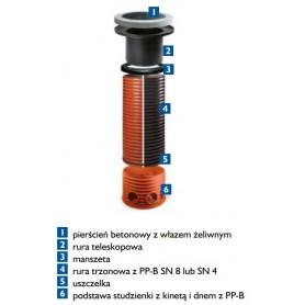 Adapter tworzywowy fi 630mm TX765/420/410 pod wpust 600