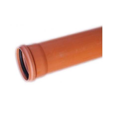 Rura kanalizacyjna z PVC-u DN 160x3,2x1000mm (zewnętrzna-lita)