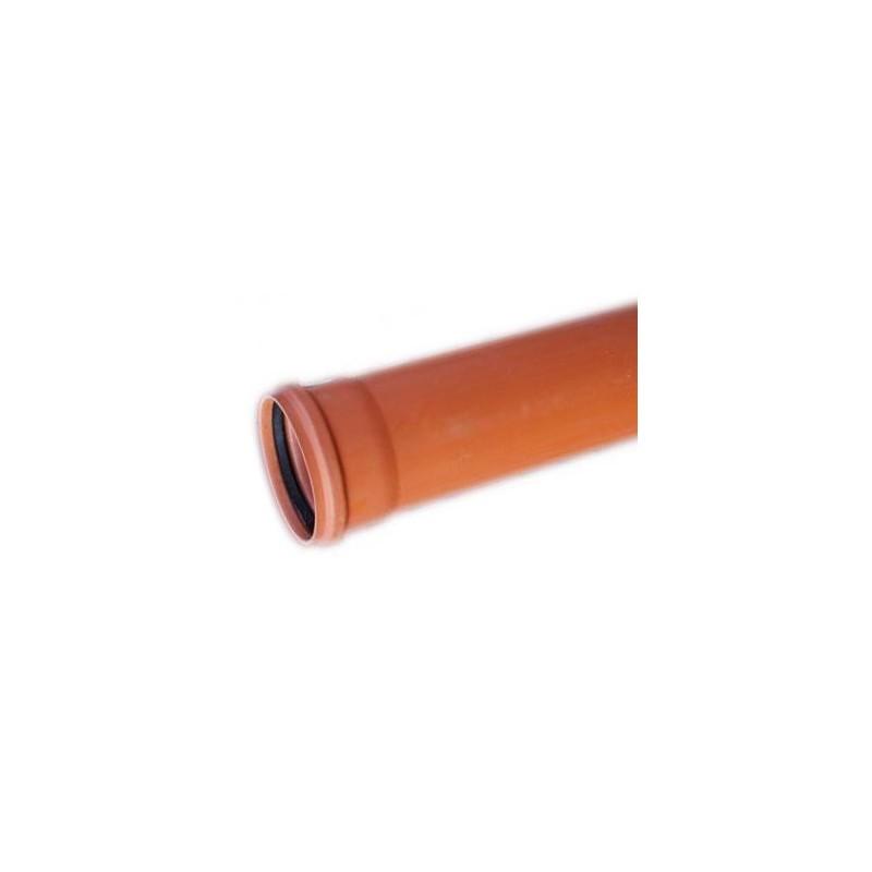 Rura kanalizacyjna z PVC-u DN 160x4,7x1000mm (zewnętrzna-lita)