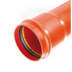Rura kanalizacyjna z PP SN 8 fi 160x4,7x3000mm lita z wydłużonym kielichem