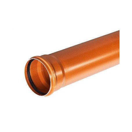 Sewer pipe with PP SN 10 fi 125x4, 8x3000mm solid