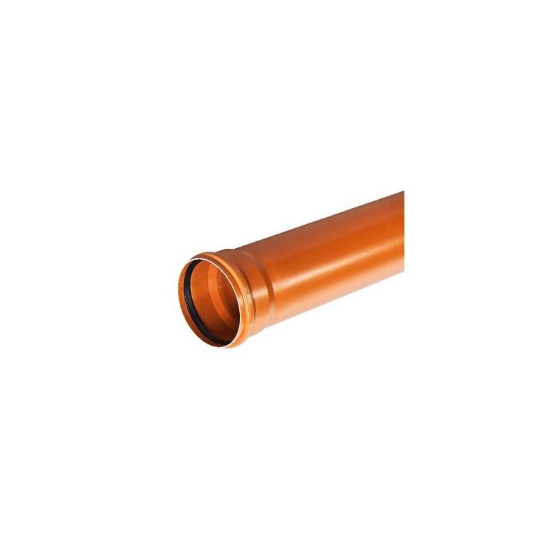 Rura kanalizacyjna z PVC-u DN 400x7,9x1000mm (zewnętrzna-rdzeń spieniony)