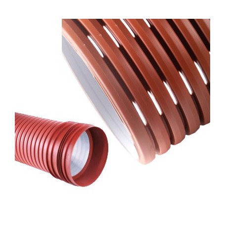 Drain pipe PP DN 315mm MP (120 °) SN8 (6 m stretch)