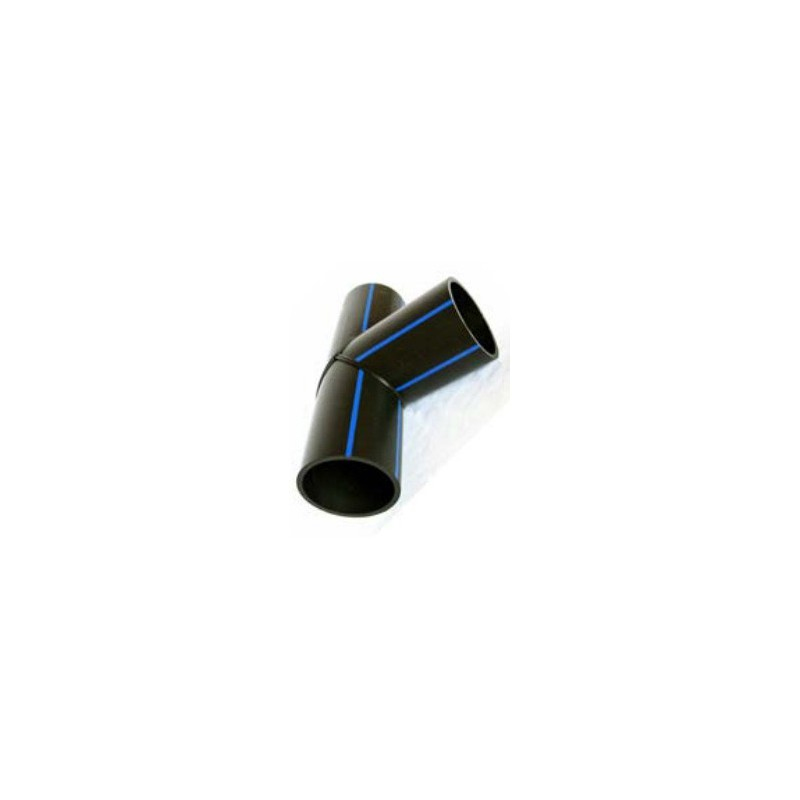 Trójnik równoprzelotowy PE HD 100 PN 10 DN 225 kąt 90