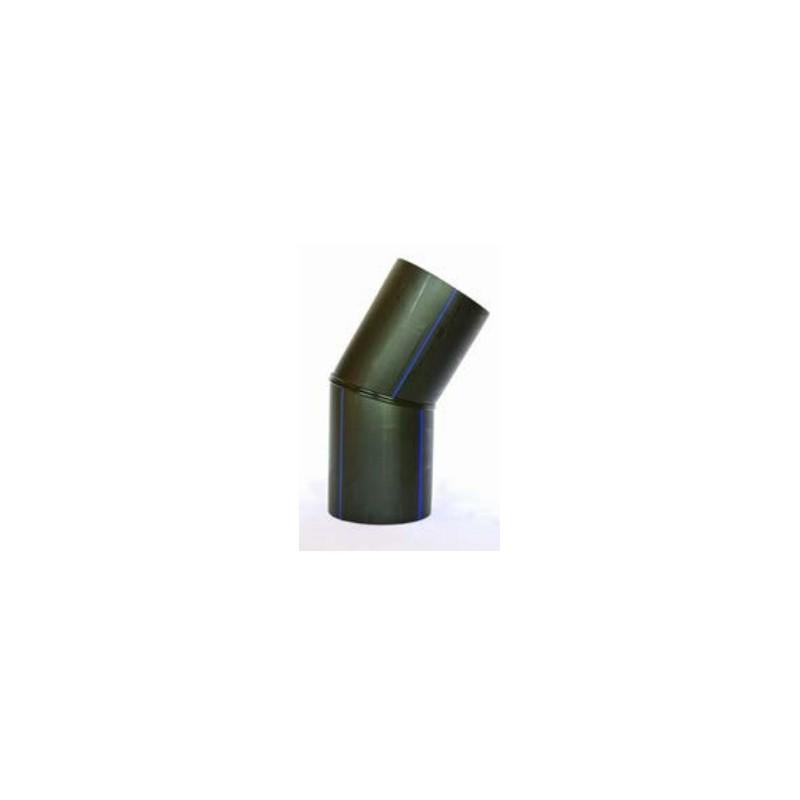 Łuk segmentowy PE HD 100 PN 16 DN 160 kąt 15