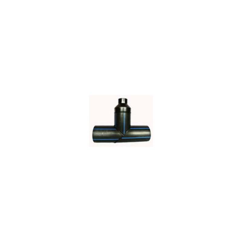 Trójnik redukcyjny PE HD 100 PN 10 DN 200/200/63 kąt 90