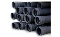 PVC Druckrohre und Armaturen