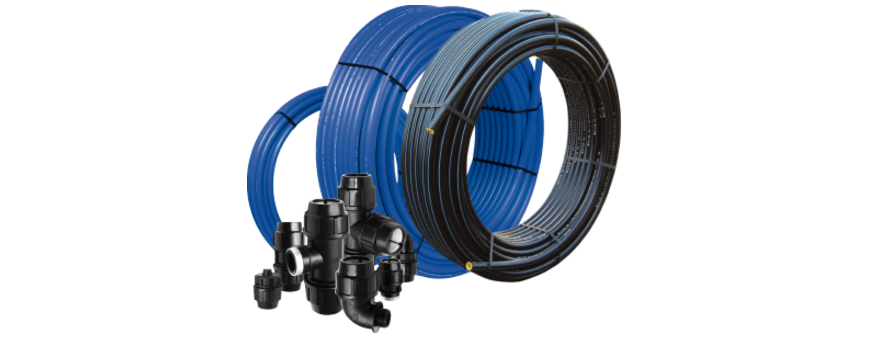 PE HD pressure Pipes and fittings
