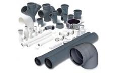 Vnitřní systém kanalizace-PP a PVC trubky a tvarovky