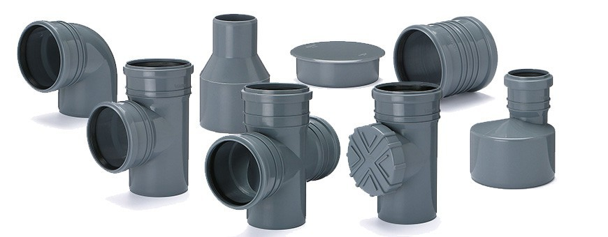 PP Sewer Fittings from fi 32 to fi 110mm