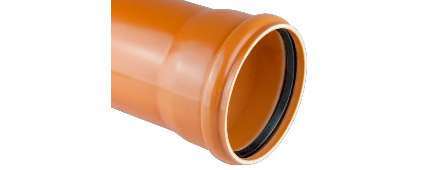 PVC external sewer pipes core foamed from fi 110 to fi 500mm