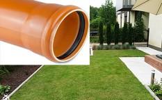 Rury kanalizacyjne (rdzeń spieniony) SN 2 - Typ Lekki (L) PVC-u