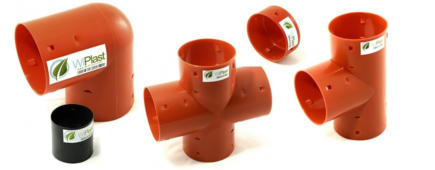 PVC Drainage fittings for dewatering of land
