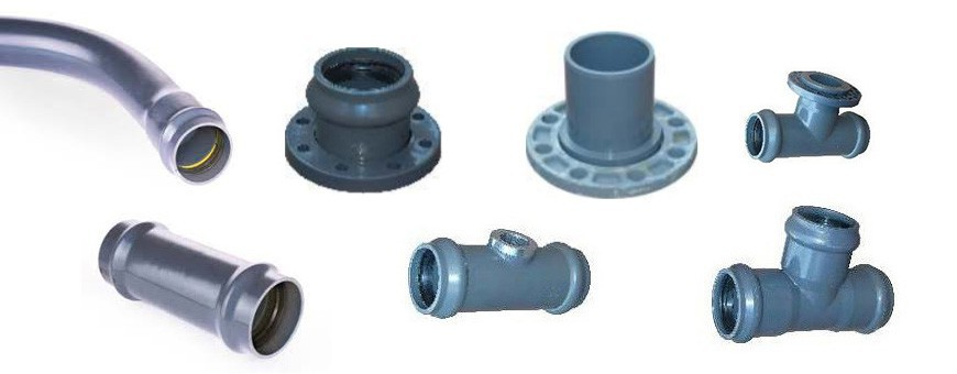 PVC pressure fittings for water mains.