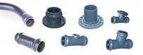 PVC-Druckarmaturen für Wasserleitung.