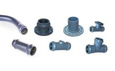 Kształtki ciśnieniowe PVC-u do sieci wodociągowych.