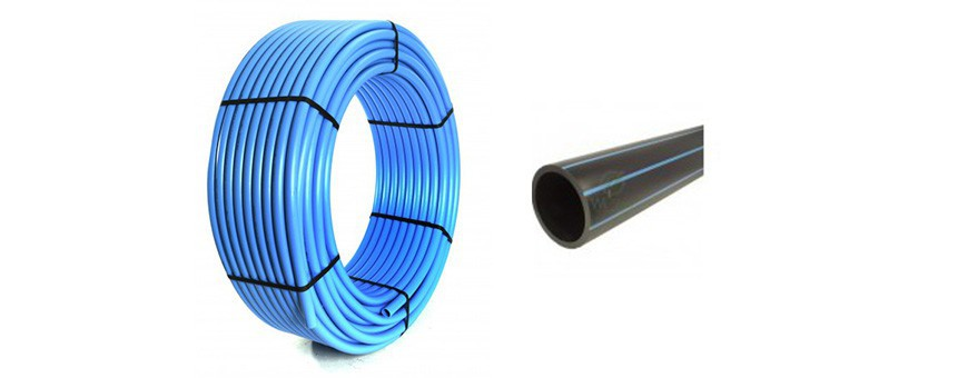 PE HD 80 pressure pipes for water mains.