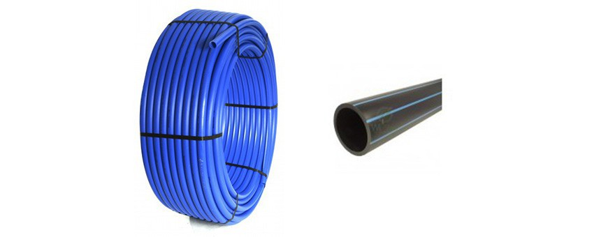 PE HD 100 pressure pipes for water mains.