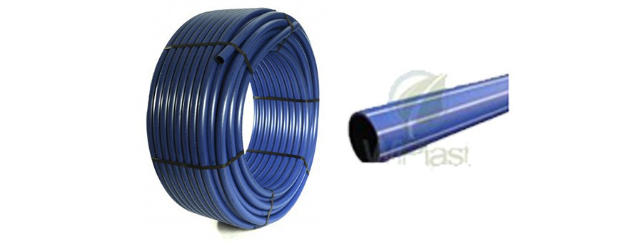 PE HD 100RC sandwich tubes for piping and sewer pipelines.
