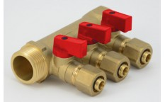 Manifold with hot water valves PEX-10 YEARS WARRANTY