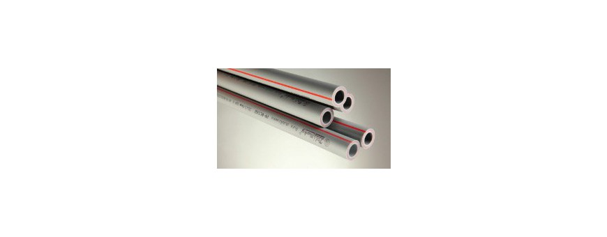 PP-RCT tubes with glass fibre-reinforced
